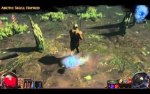 Path of Exile - Arctic Skull Hatred Aura Effect