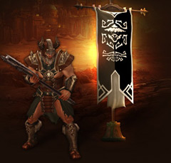 варвар, баннер Diablo III