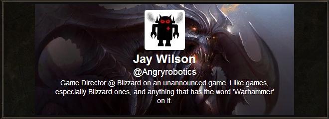 Джей Уилсон - директор неанонсированого проекта Blizzard?
