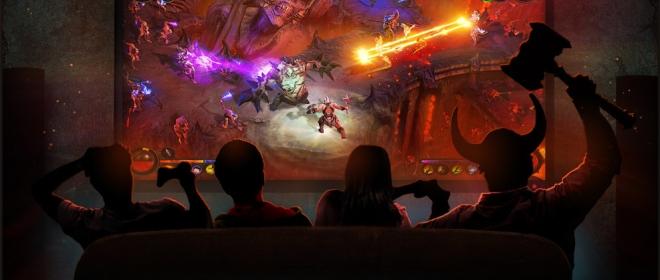 На консолях вы можете играть в Diablo 3 вчетвером на одном телевизоре.